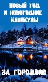 Новый год и новогодние каникулы на базах отдыха в Ленинградской области
